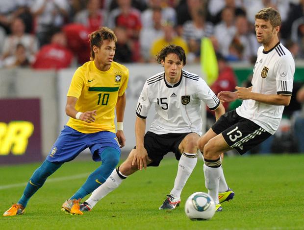 neymar brasil x alemanha (Foto: AFP)