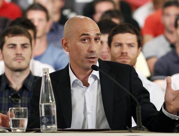 Luis Rubiales, presidente da Associação dos Jogadores espanhois (Foto: EFE)