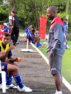 Marcão no treino do Bangu (Foto: Fabio Leme / Globoesporte.com)