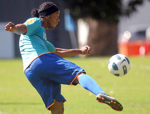 Ronaldinho Gaúcho no treino do Flamengo (Foto: Nina Lima / Vipcomm)
