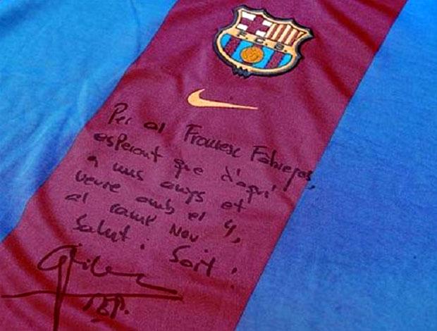 Camisa Fabregas Barcelona (Foto: Divulgação)