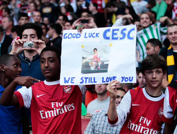 cartaz fabregas arsenal x udinese (Foto: Getty Images)