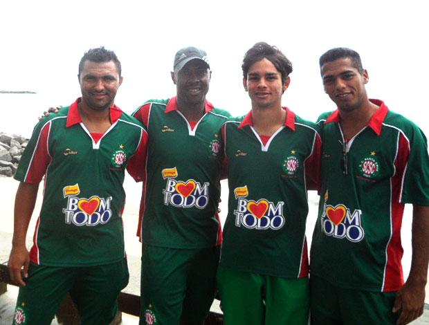 jogadores do Santa Cruz-RN Brasil Afora (Foto: Mariana Kneipp / GLOBOESPORTE.COM)