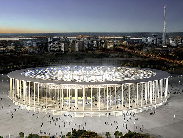maquete estádio nacional copa do mundo 2014 (Foto: Divulgação)