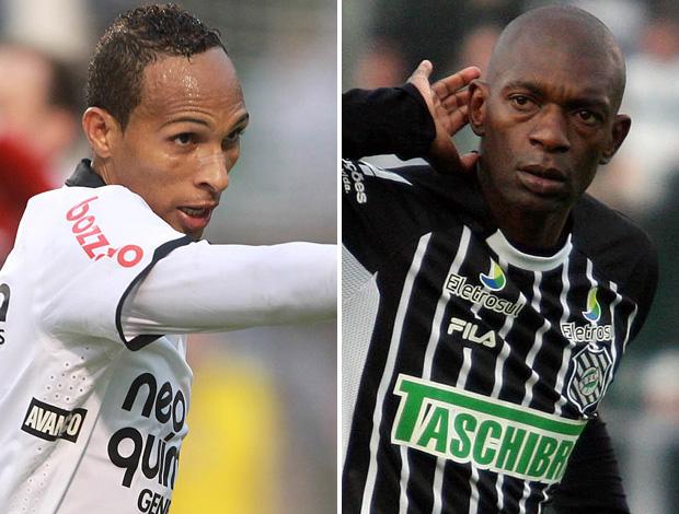 Montagem Liedson x Somália, Corinthians x Figueirense (Foto: Editoria de Arte / Globoesporte.com)