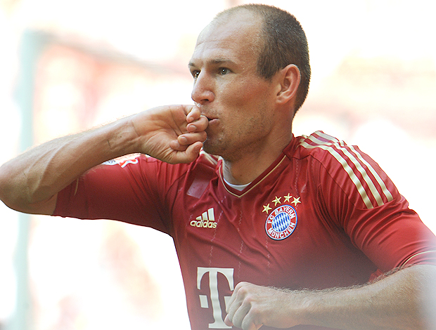 robben bayern de munique gol hamburgo (Foto: Agência Getty Images)
