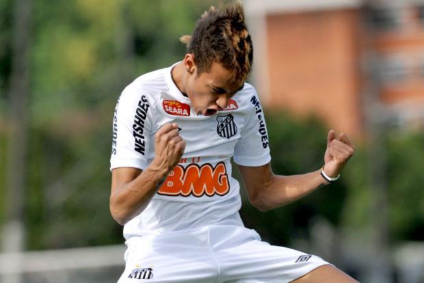 Neymar, em campanha publicitária do Santos (Foto: divulgação/Santos FC)