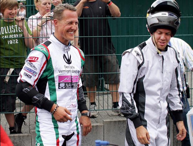 schumacher vettel kart club na cidade Kerpen Alemanha (Foto: Agência EFE)