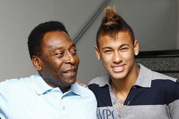 Neymar e Pelé (Foto: divulgação/Santos FC)