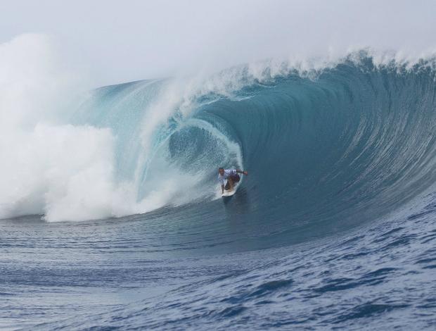 surfe Teahupoo Raoni Monteiro nota 10 (Foto: ASP)