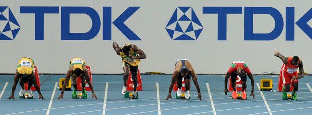 Mundial de Atletismo - Usain Bolt queima a largada (Foto: AFP)