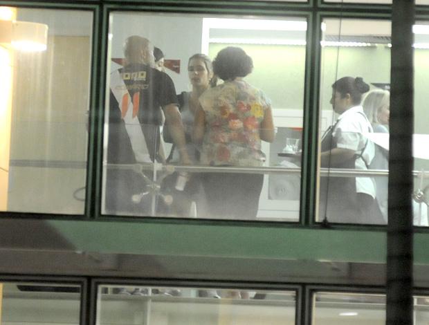 filha ricardo gomes  hospital pasteur (Foto: André Durão / Globoesporte.com)