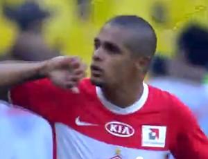 Welliton comemora gol do Spartak contra o CSKA (Foto: Reprodução)