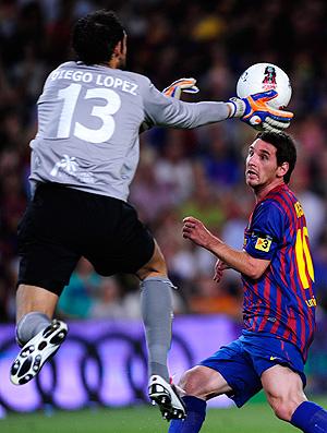 messi barcelona x Villarreal (Foto: AP)