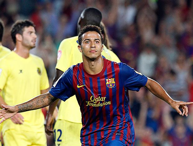 thiago alcantara barcelona x Villarreal (Foto: Reuters)