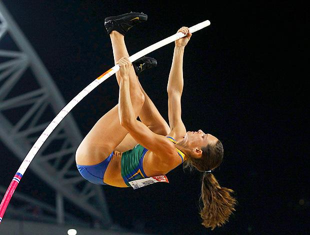 atletismo fabiana murer salto com vara mundial daegu (Foto: Agência Reuters)