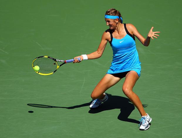 Tenis -  Victoria Azarenka rebate Johanna Larsson - us open (Foto: AFP)