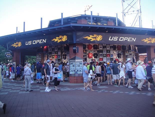 Loja US Open tênis octógono (Foto: Alexandre Cossenza/Globoesporte.com)
