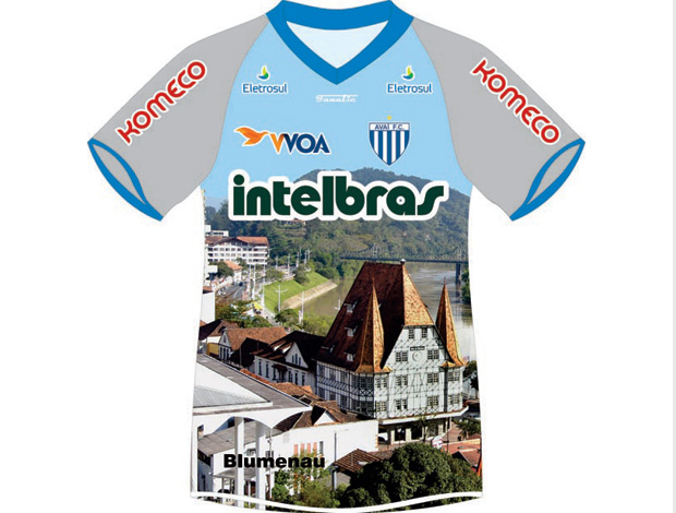 camisa avaí homenagem cidade Blumenau (Foto: Divulgação Site Oficial do Avaí)