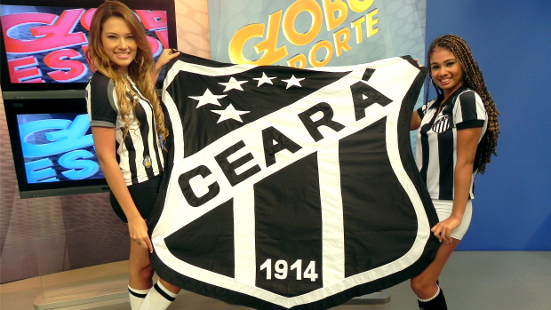 Taiana e Vanessa, musas do Ceará (Foto: Diego Morais / Globoesporte.com)