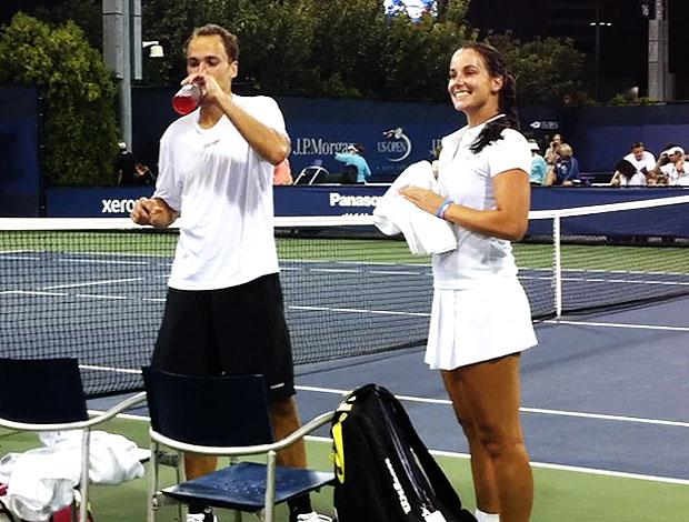 Bruno Soares tênis Jarmila Gajdosova US Open duplas mistas (Foto: Alexandre Cossenza / GLOBOESPORTE.COM)