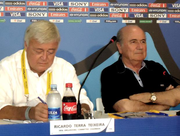 Ricardo Teixeira e Blatter - Futebol de Areia (Foto: Igor Christ/Globoesporte.com)
