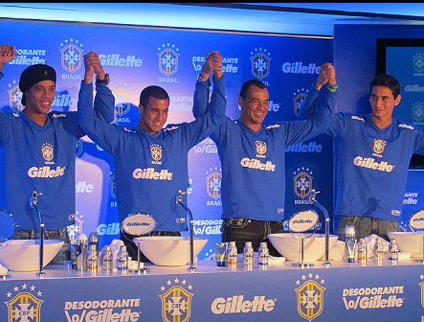 Ronaldinho gaucho lucas cafu ganso evento patrocinador (Foto: Renato Cury)