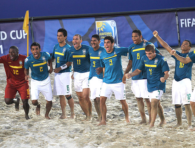 Brasil na Copa do Mundo de futebol de areia (Foto: Getty Images)