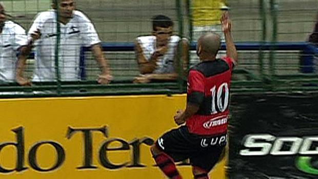Djalminha Flamengo x Santos Showbol (Foto: Reprodução SporTV)