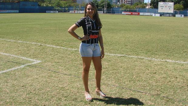 Suzana Rossêto, a musa do Rio Branco-ES (Foto: Igor Gonçalves/Globoesporte.com)