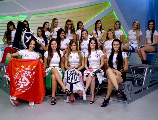 candidatas a musa do Brasileirão no EE (Foto: Juliana Ostrovski / Globoesporte.com)