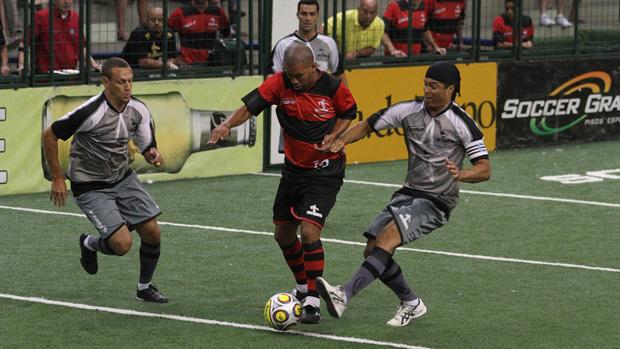 Flamengo vence o Botafogo pelo Brasileiro de showbol (Foto: Divulgação/Ricardo Cassiano)