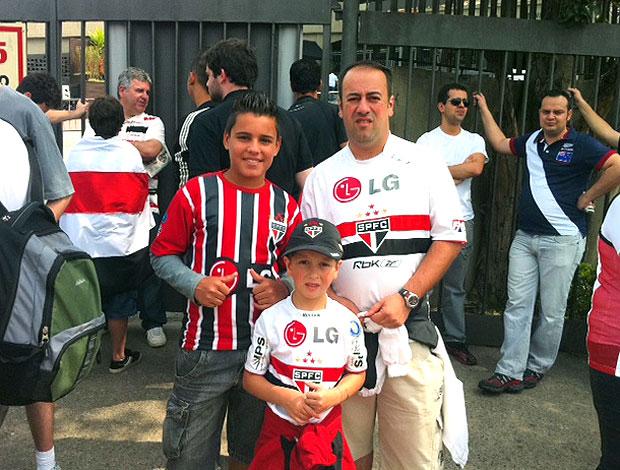 torcida do São Paulo no jogo (Foto: Marcelo Prado / GLOBOESPORTE.COM)