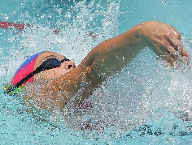 Marcella Sangado dos Santos vence 50m costas nas Olimpíadas Escolares (Foto: Wagner Carmo / COB)