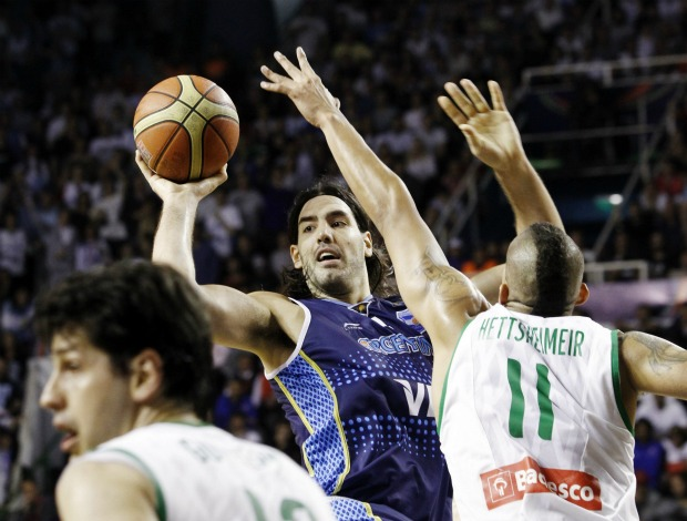 basquete Giovannoni scola Hettsheimeir Brasil x Argentina Copa América (Foto: EFE)