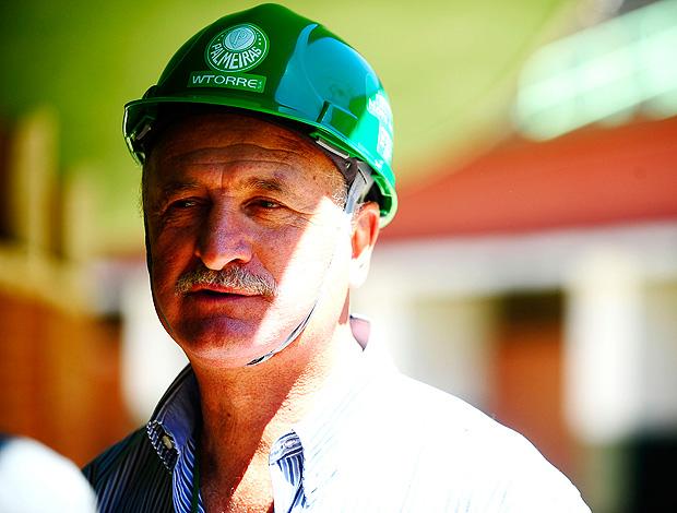 Luiz Felipe Scolari felipão palmeiras obras (Foto: Marcos Ribolli/ GLOBOESPORTE.COM)