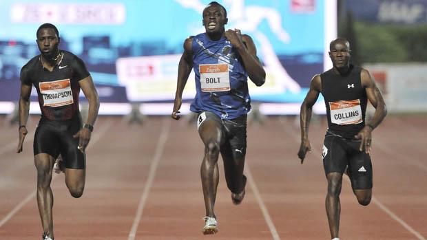 Usain Bolt vence a prova dos 100m rasos no Meeting de Zagreb (Foto: Reuters)