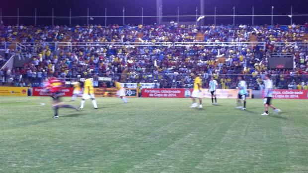 Jogo Brasil x Argentina nas comemorações dos 70 anos do PV (Foto: Gioras Xerez/Globoesporte.com)
