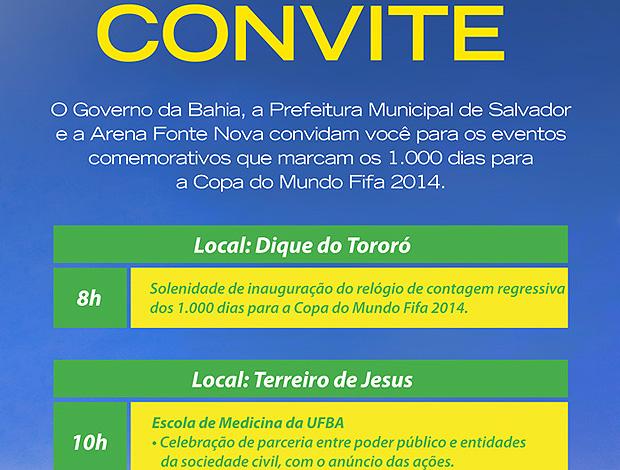 convite copa do mundo salvador (Foto: Divulgação)