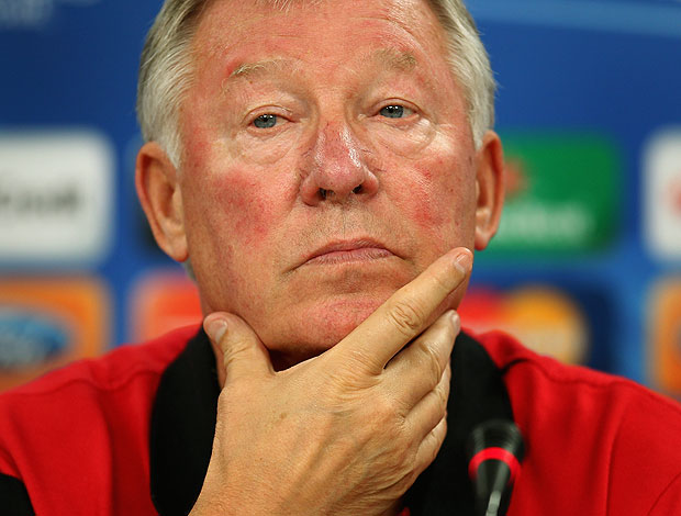 Alex Ferguson durante entrevista do Manchester United (Foto: Getty Images)