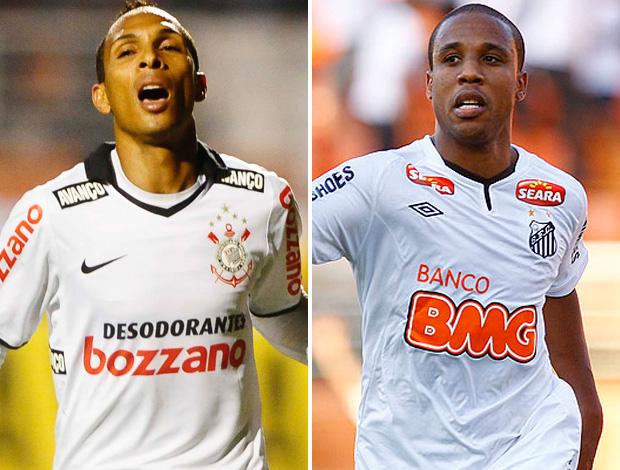 Montagem Liedson e Borges, Corinthians x Santos (Foto: Editoria de Arte/Globoesporte.com)