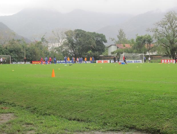 Obras do Ninho do Urubu, em Vargem Grande. Campos e construção do módulo do time profissional (Foto: Janir Junior/Globoesporte.com)