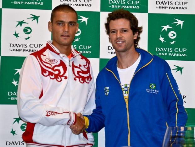 tenis Copa Davis Youzhny e Mello - POA PRESS (Foto: Marcelo Ruschel / POA Press)