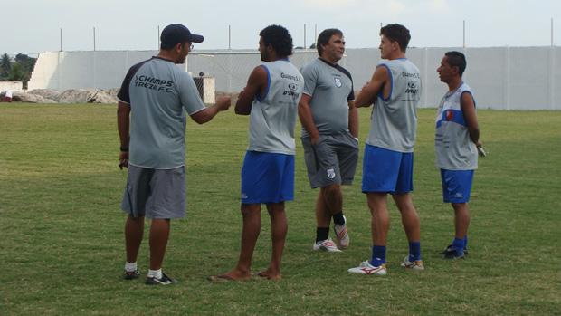 Jogadores do Guarany de Sobral visitam o Treze (Foto: Divulgação)