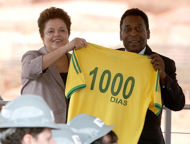 Dilma Pelé obras do Mineirão (Foto: Ag. Estado)