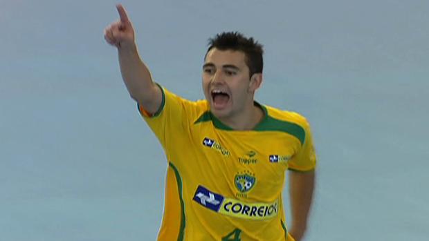 Copa América de Futsal Brasil x Argentina gol Neto (Foto: Reprodução SporTV)