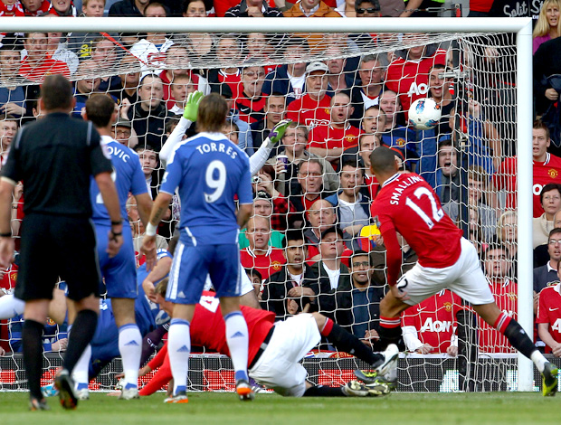 smalling manchester united gol chelsea (Foto: Agência Getty Images)