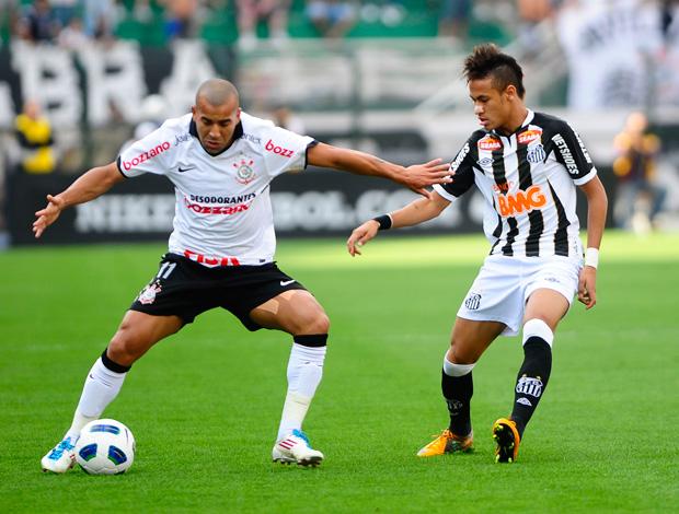 Emerson e Neymar, Corinthians x Santos (Foto: Marcos Ribolli/Globoesporte.com)