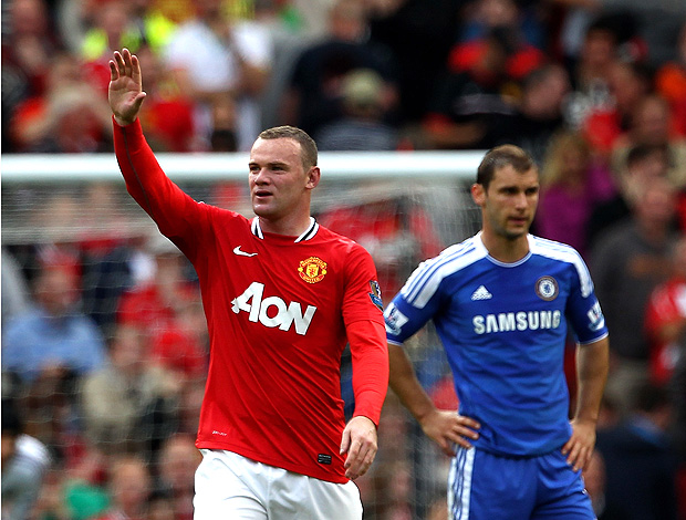 rooney manchester united gol chelsea (Foto: Agência Getty Images)