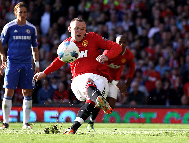 rooney manchester united perde pênalti chelsea (Foto: Agência Getty Images)